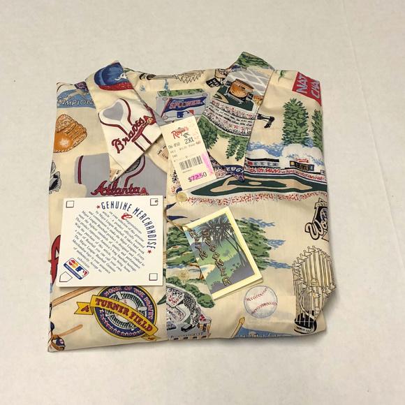 80361959 Reyn Spooner Shirts   Nwt Atlanta Braves 1995 World Series   Poshmark